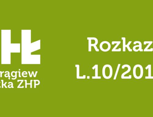 Rozkaz Komendantki Chorągwi L.10/2017