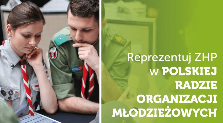 Główna Kwatera ZHP zaprasza instruktorki i instruktorów do podjęcia współpracy z Polską Radą Organizacji Młodzieżowych