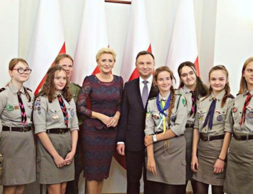 Harcerze z Inowłodza z wizytą w Pałacu Prezydenckim