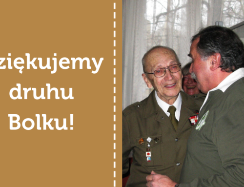 Dziękujemy druhowi Bolkowi za lata służby na funkcji Przewodniczącego Komisji Historycznej!