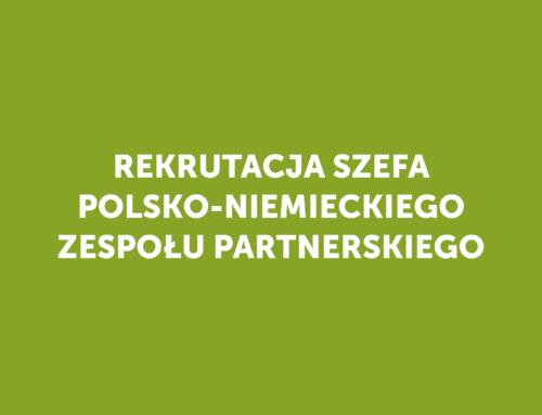 Rekrutacja szefa polsko-niemieckiego zespołu partnerskiego